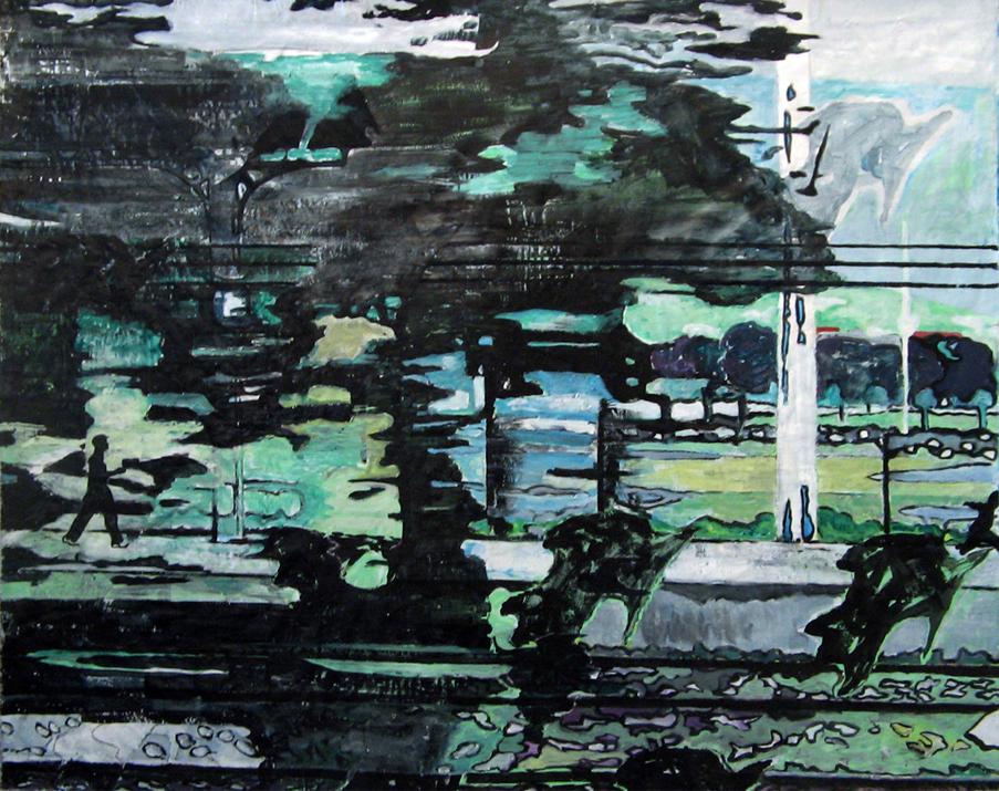 Sans titre -  Acrylique sur tissus – 140 x 112 – 2011