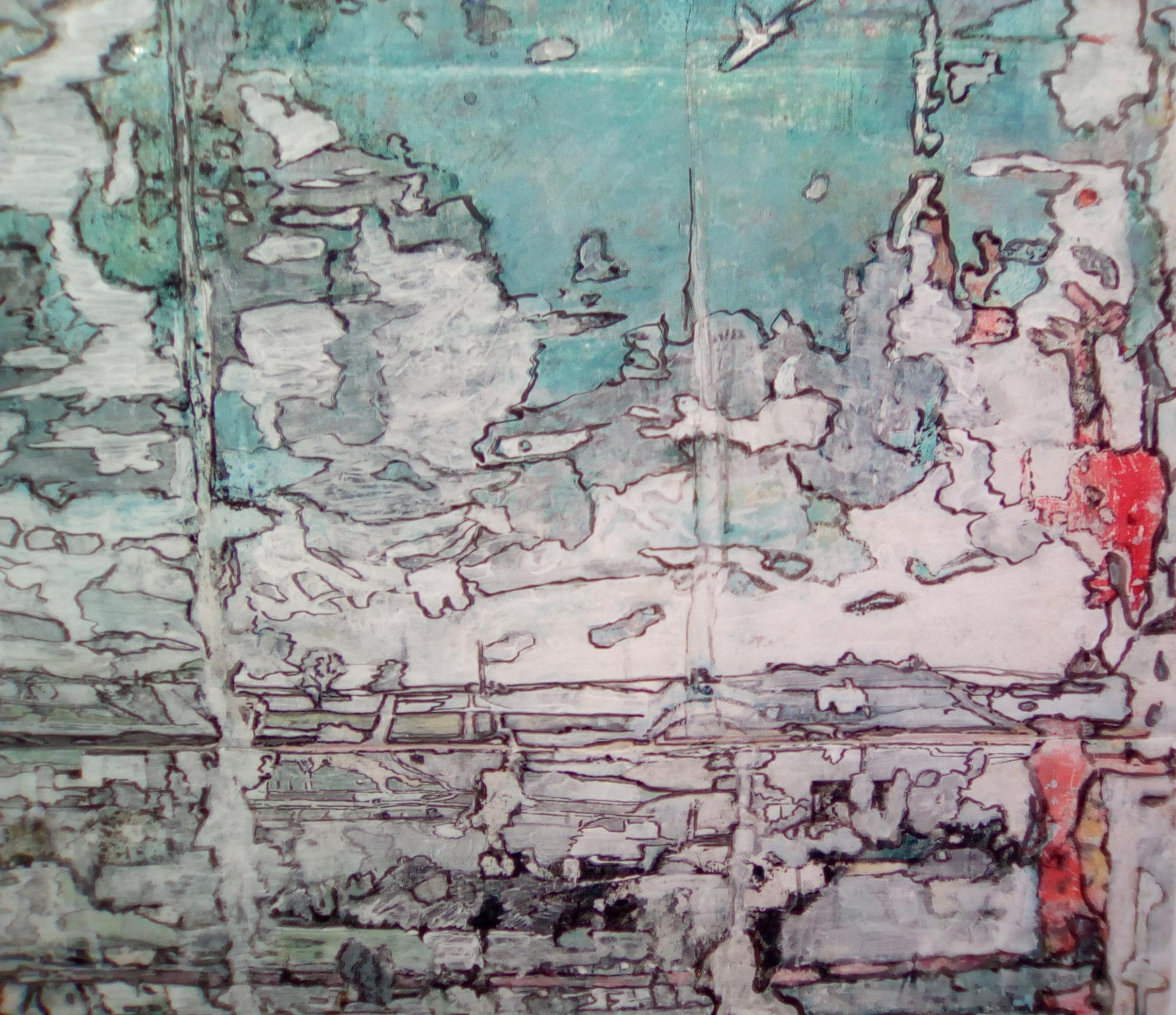Acrylique sur plastique_187 x 156_2018 ( Détail )
