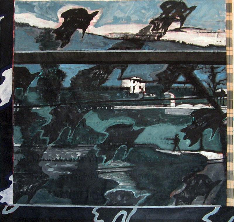 Sans titre – Acrylique sur tissus raboutés - 130 x 123 – 2010