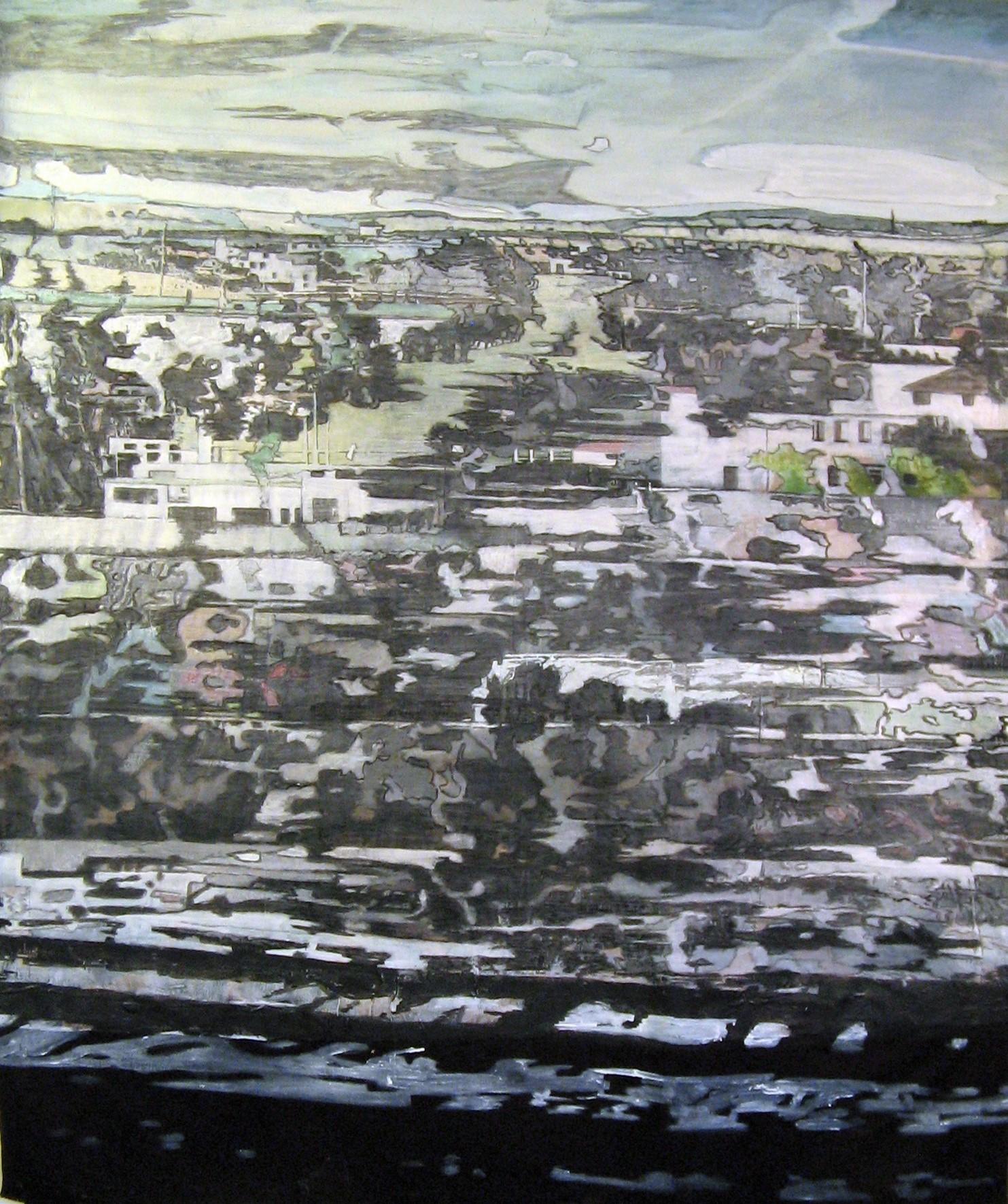 Acrylique sur tissus raboutés_180 x 150_2018