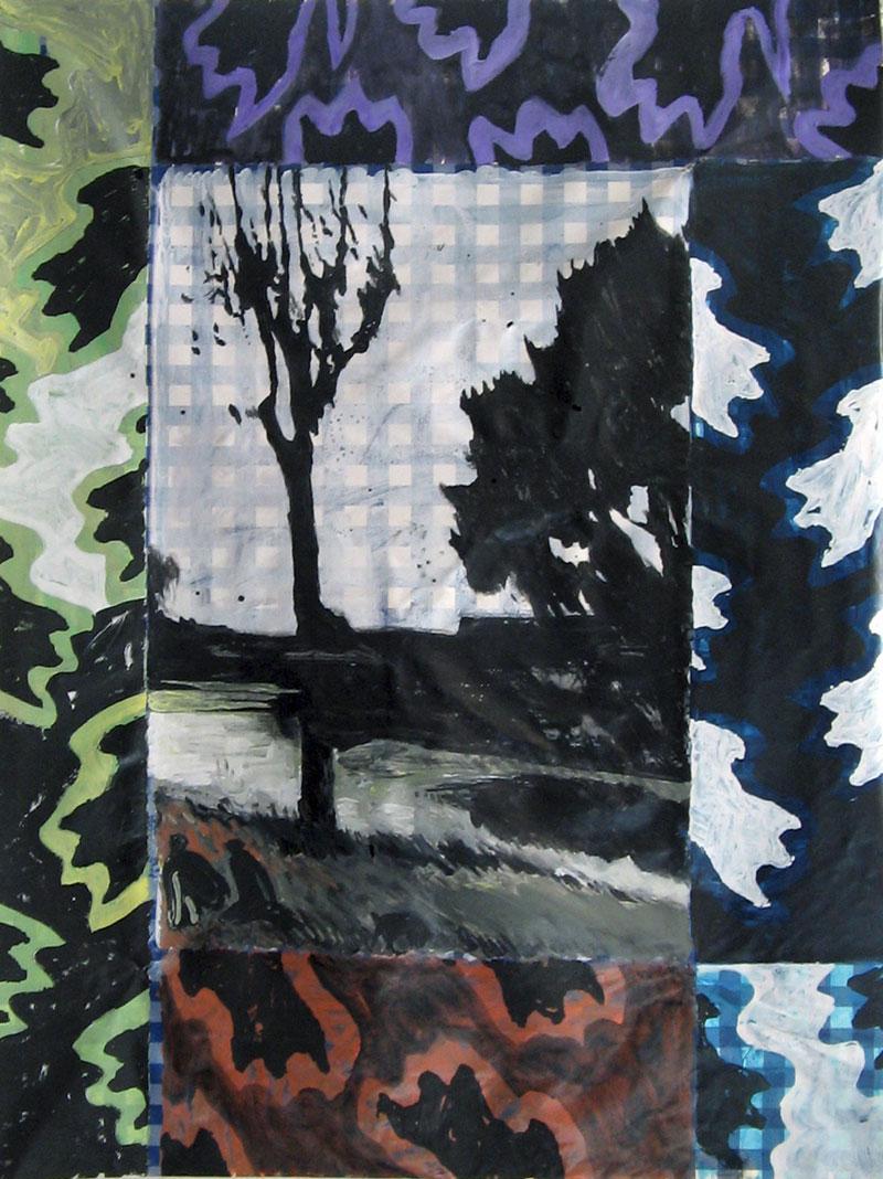 Sans titre – Acrylique sur nappe - 106 x 143 - 2011