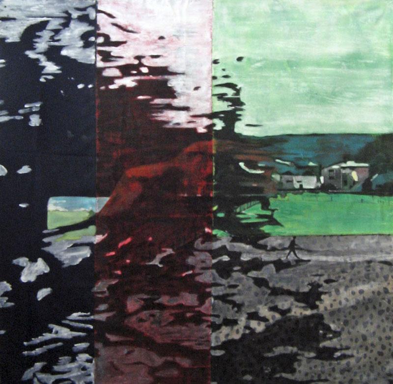 Sans titre - Acrylique sur tissus raboutés - 127 x 125 - 2011