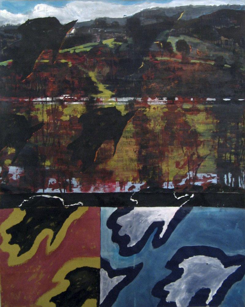 Sans titre – Acrylique sur tissus raboutés - 90 x 113 – 2010