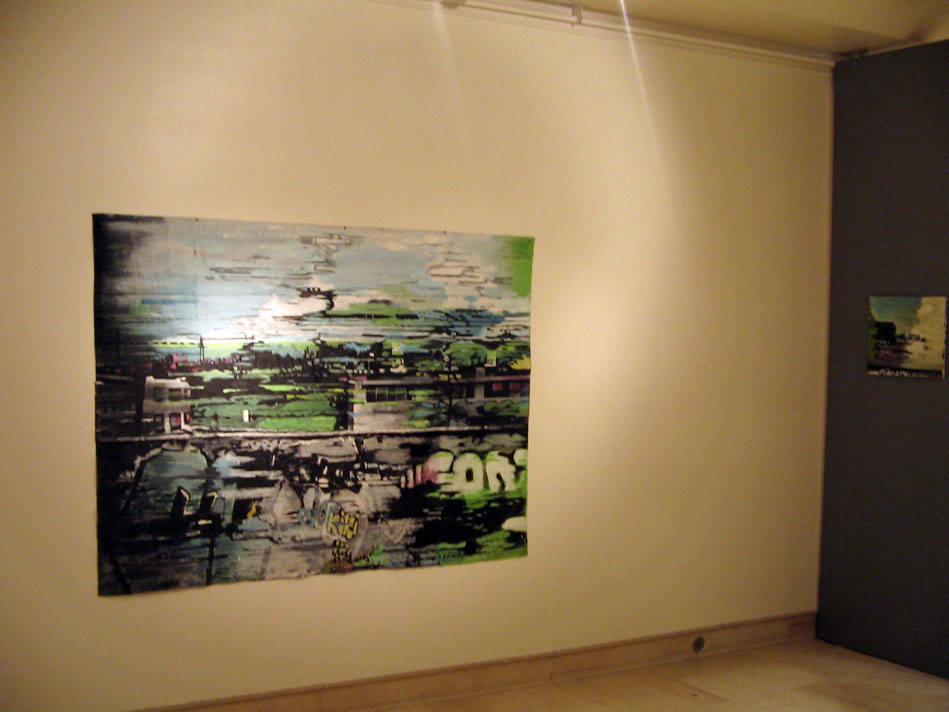 Vue de l'exposition au musée Déchelette à Roanne- 2012