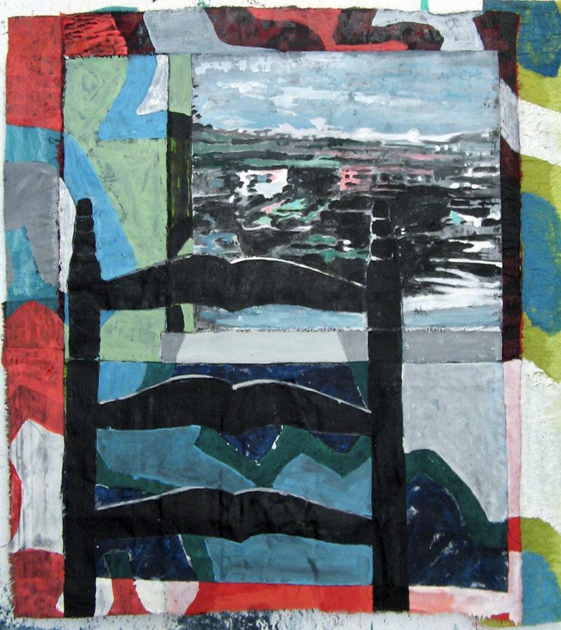 Sans titre - Acrylique sur tissus raboutés –  62 x 72 - 2010