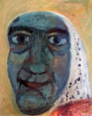 '' Tête – La noiraude '' – h.s. Affiches – 62 x 78 – 1995