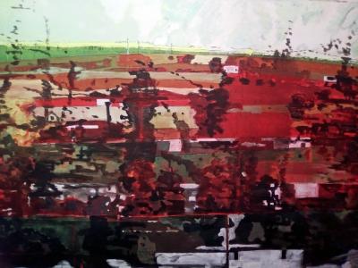 Acrylique sur tissus raboutés_198 x 145_2018 ( détail )