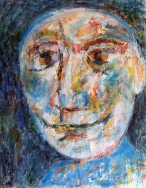 '' Tête – Le lunaire '' – h.s. Affiches – 62 x 78 – 1995