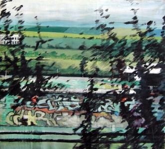 Sans titre - Acrylique sur tissus – 108 x 98 – 2011