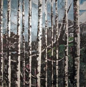 Forêt - Acrylique sur tissus raboutés – 112 x 114 – 2010
