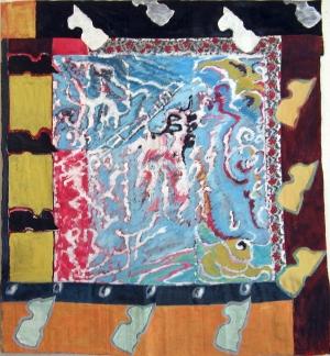 Fantaisie - Acrylique sur tissus raboutés – 125 x 135 - 2009