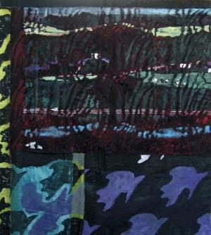 Sans titre – Acrylique sur tissus raboutés - 123 x 139 – 2010