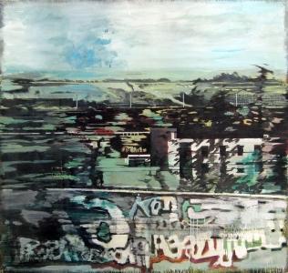 Grand paysage - Acrylique sur tissus – 156 x147 – 2012