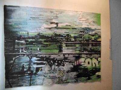 Grand paysage – Acrylique sur tissus raboutés - 188 x 140 - 2011
