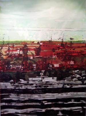 Acrylique sur tissus raboutés_198 x 145_2018