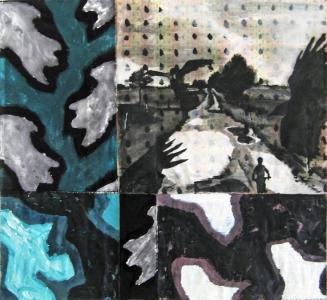 L'enfance - Acrylique sur tissus raboutés – 88 x 78 - 2011