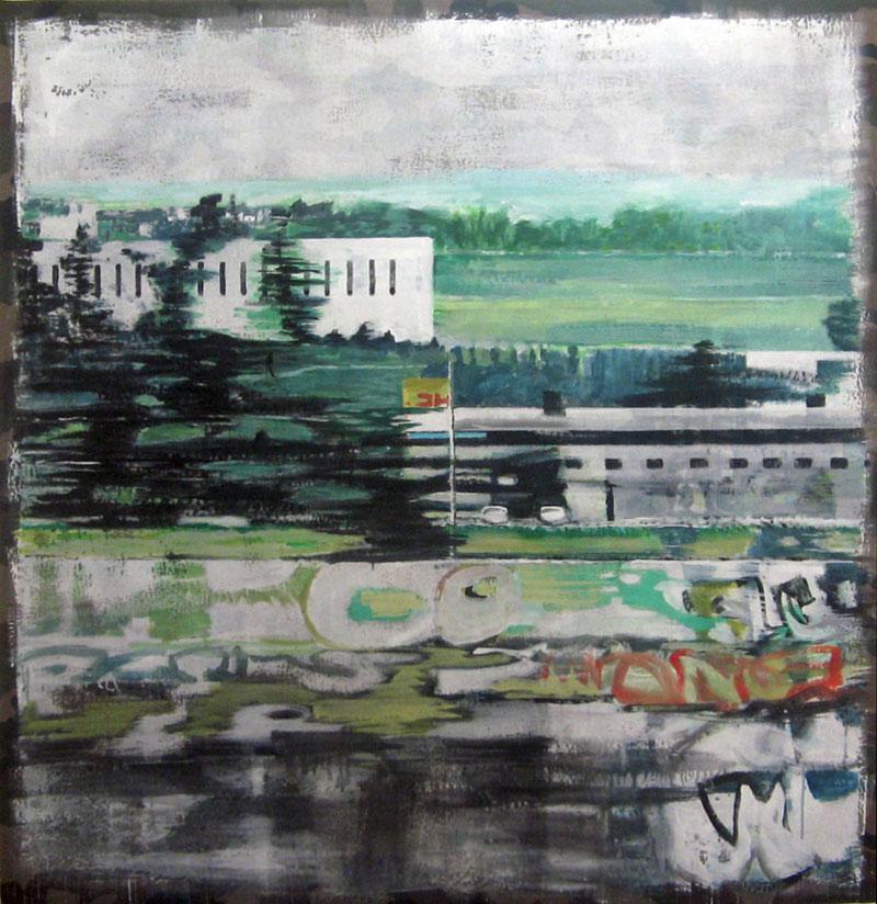 Grand paysage -  Acrylique sur tissus – 148 x152 – 2012